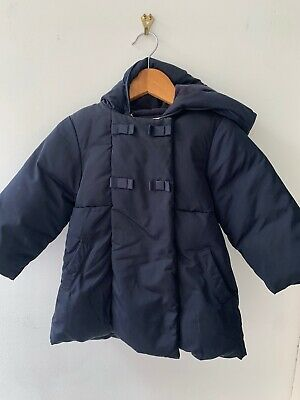 Jacadi Puffer Coat Hooded jacket Navy 23 Months (rare find)