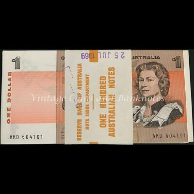 1969 Phillips Randall $1 Bundle of 100 Notes UNC & RARE $0.99c Free Postage!