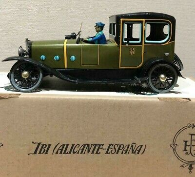 paya tin toy REF.841 COCHE COUPE LIMOUSINE 1923 Vintage Rare Made in Spain