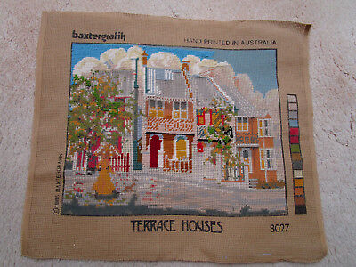 Baxtergrafik Terrace Houses Tapestry 1/4 Stitched ?Needs Sulliivans Threads