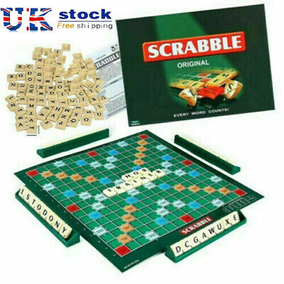 UK Kids Adults Original Scrabble Board Game Family Educational Toys Puzzle Game