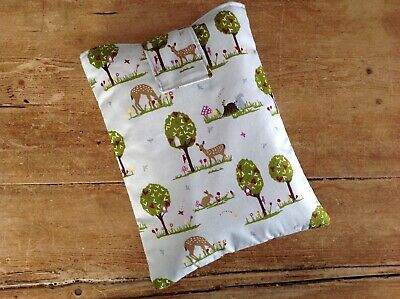 Handmade Fabric Book Sleeve Protector Cover Pouch Woodland Animals Fabric