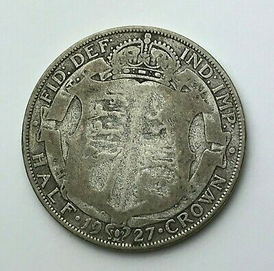 Dated : 1927 - Silver Coin - Half Crown - King George V - Great Britain