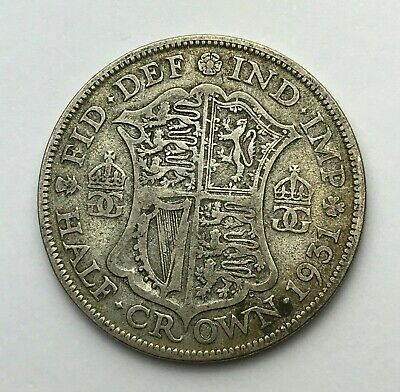 Dated : 1931 - Silver Coin - Half Crown - King George V - Great Britain
