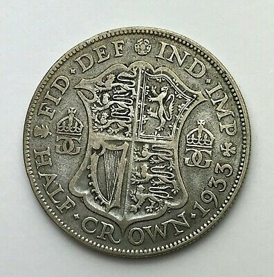 Dated : 1933 - Silver Coin - Half Crown - King George V - Great Britain