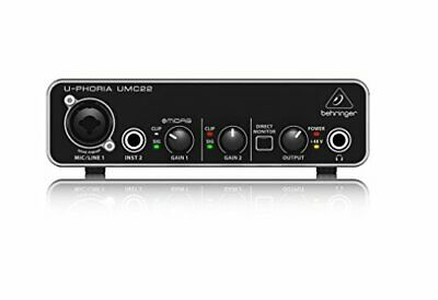 Behringer USB audio interface 2 inputs 2outputs umc22 new from Japan