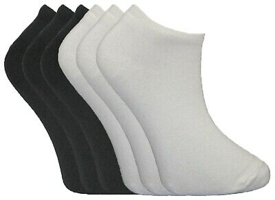 3-36 Pairs Girls Plain Short Trainer Liner Sport Ankle Cotton Socks Lot Size 4-6