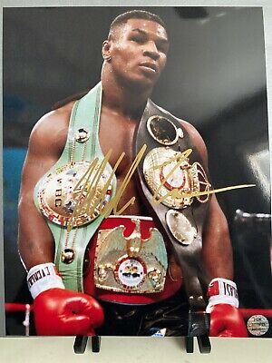 Mike Tyson Signed Autograph 8x10 Iron Boxing Champ Punch Out Rare COA WWE