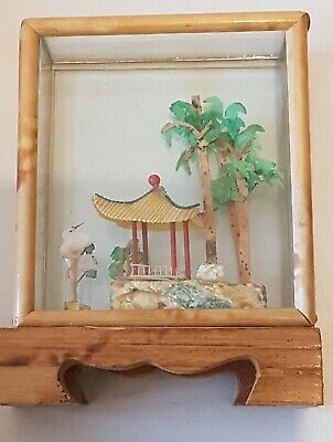 Minature Chinese Glass Cased Ornament.. with Wooden base