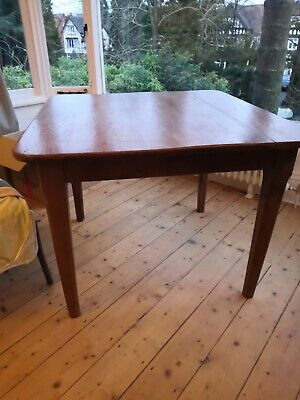 Solid Pitch Pine Vintage 40 50's extendable table french country