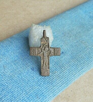 "ANTIQUE 17th CENTURY ORTHODOX ""OLD BELIEVERS"" CROSS ""ST. NIKITA DEFEATING DEVIL"""
