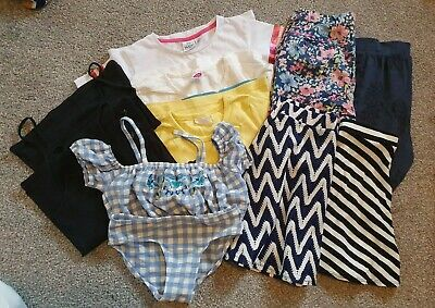 Girls Summer Clothes Bundle Aged 7-8years Skirt*trousers*tshirts*swimwear