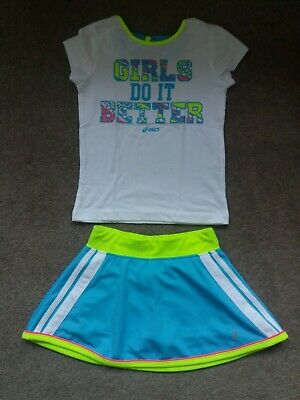 Asics Girls Tennis Top And Skort Age 4