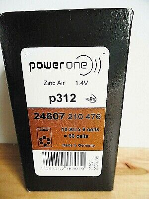 Unopened ~NEW~ Box Powerone 1.4V 60 Button Cell Hearing-Aid Batteries Exp 5-2023