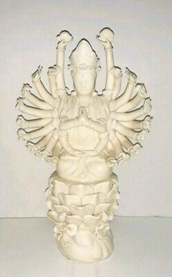 Chinese Blanc de Chine Porcelain Multi-Arms White Figurine Statue Collection-66
