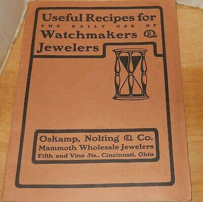 Useful Recipes for Daily use of Watchmakers & Jewelers Catalog~Watches/Purses +