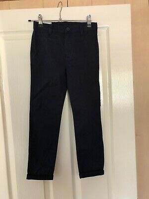 BNWT Boys Navy Blue Chino Chino Trousers Age 7 Years