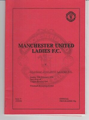 EARLY VINTAGE RARE MAN.UTD LADIES PROG.v OLDHAM ATHLETIC 1996, , COLL. EXC.COND.