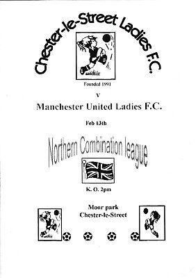VINTAGE RARE WOMEN'S PROG. 2000, CHESTER-LE-STREET v MAN.UNITED. EXC. CONDITION