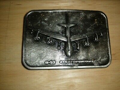 The Buckle Connection Vintage Pewter Metal Boeing B-52 Superfortress Belt Buckle