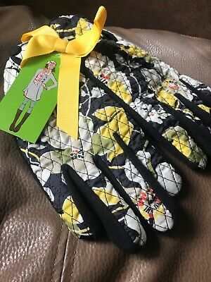 VERA BRADLEY S-M Gloves DOGWOOD Retired, New With Tags, Winter Fleece, Lined