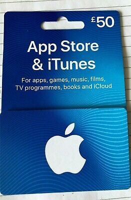 Apple Itunes £50 UK Only Gift Card Voucher App Store And Itunes