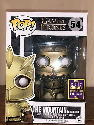 Funko Pop! Game Of Thrones The Mountain Armoured #54 2017 SDCC Shared Sticker