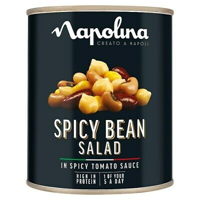 NAPOLINA Spicy Bean Salad Large Big Giant Catering Tin Can 800g