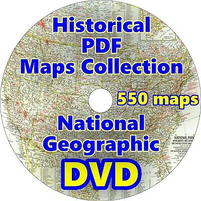 Historical PDF Maps Collection National Geographic - 550 maps on 1 DVD