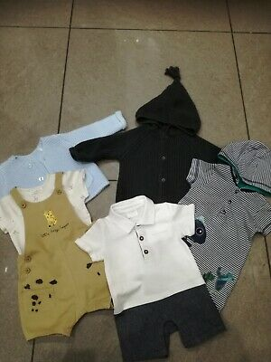Bundle Of Baby Boys Outfits Sets - Size 0-3 Months. Next, ff, m+s