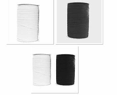 """4""""mm FLAT WOVEN CORDED ELASTIC WAISTBANDS,CUFF,TAILORING SEWING DRESSMAKING"""