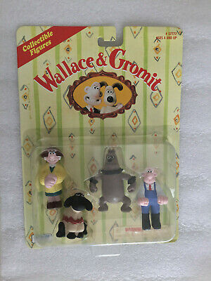 Wallace & Gromit Figures 1989 Sealed  Rare Collectible Wendoline + Shaun + 2