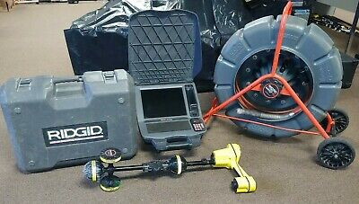 13998 Ridgid Seesnake Count Plus 325' Reel w CS12X Color Monitor & Scout Locator