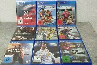 Spielesammlung Ps4 Playstation 4 Far Cry 4 Just Chause 3 Mortal Kombat X Driver
