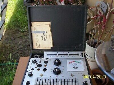 Jackson Mod 648-1 tube tester w/manual untested