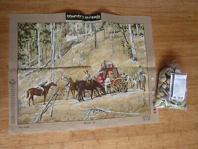 Country Threads Tapestry Kit Of Bailed Up Painting By Tom Roberts + Some Wool.