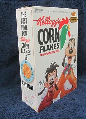 Kellogg's Corn Flakes Goofy & Max Disney's Goof Troop LIMITED ED Cereal BOX