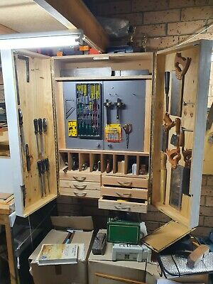 Hand tools woodworking storage cabinet