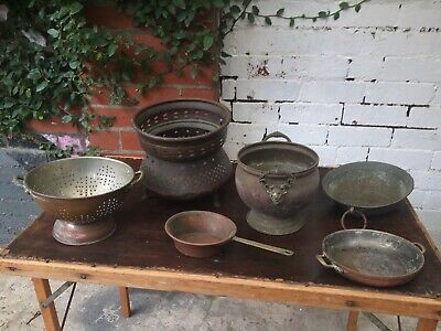 Collection of Copper / Metal Bowls and Objects