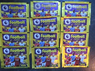 Panini's Football 2020 –  Premier League Sticker Packs (12 Packs) NEW & SEALED