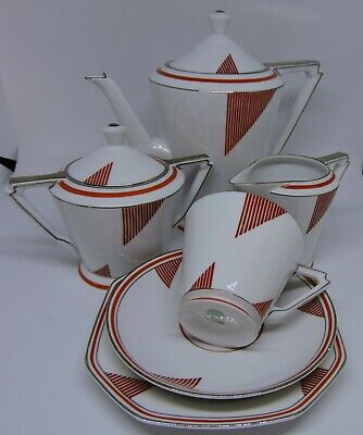 "Stunning Art Deco 1930"" Kokura Japan Part Coffee Set"