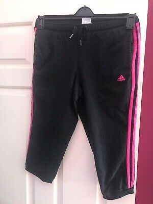 Girls Age 13-14yrs Adidas Cropped Joggers