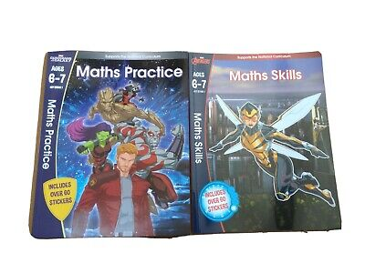 Scholastic Marvel Maths Practice, Maths Skills Books Ages 6-7 Year2  Key Stage 1