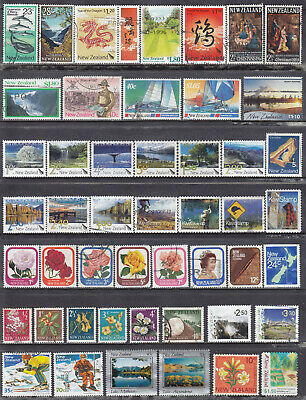 Collection Of NEW ZEALAND Decimal Used Stamps OFF PAPER LOT01