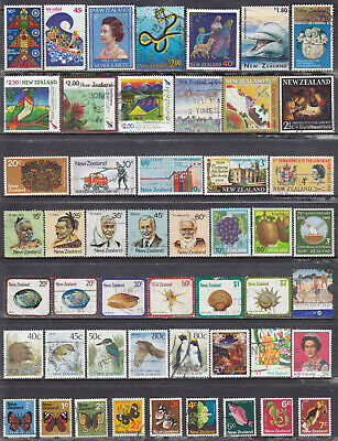 Collection Of NEW ZEALAND Decimal Used Stamps OFF PAPER LOT02