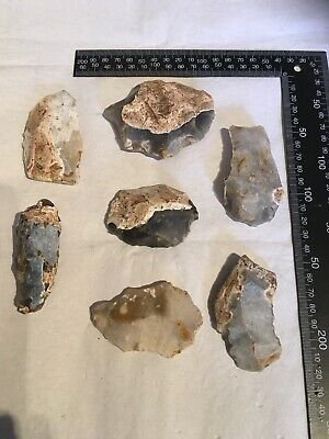 Neolithic Worked Flint..cores/flakes.5000/3500bc
