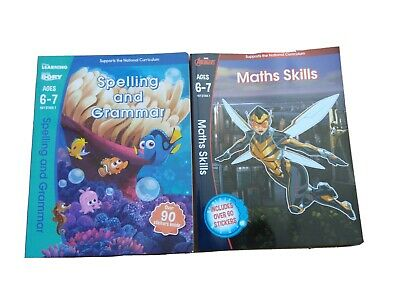 Scholastic Ages 6-7 Year2 Key Stage1, Spelling & Grammar plus Maths Skills Books