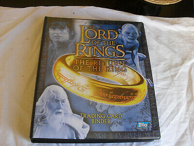 The Lord of the Rings: The Return of The King Trading Card Binder & Cards