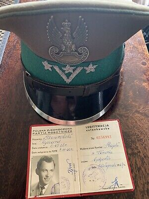Polish Army Parade Cap & Communist Party Id' & Booklet' %100 Genuine