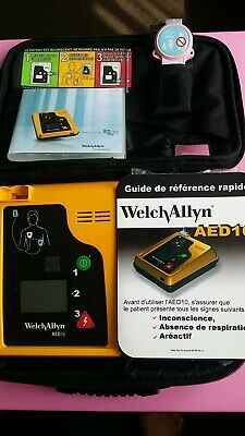 Welch Allyn AED 10 Defibrilator / new Battery and Pad